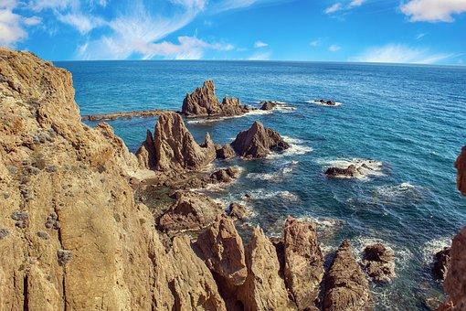 Paisaje, Marino, Arrecife, Mar, Costa