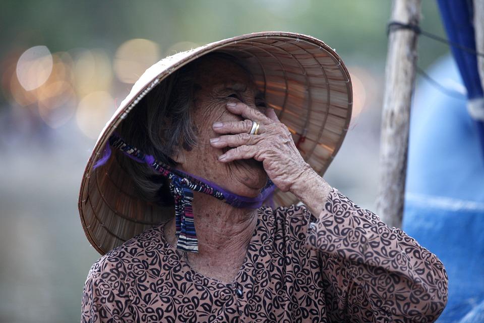 Vietnam, Persone, Persona, Donna, Sorriso, Vecchio
