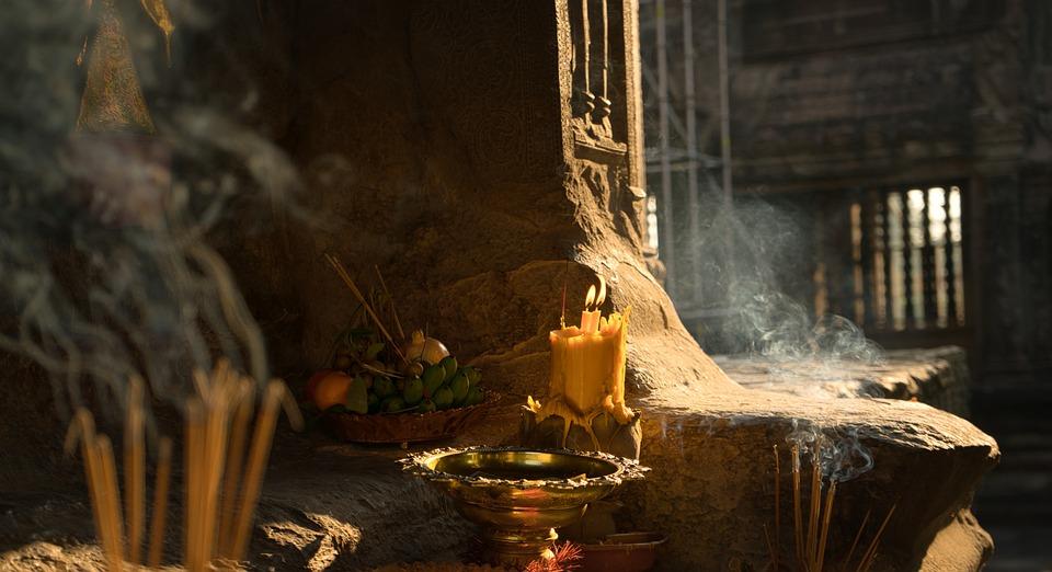 Свеча, Мистика, Храм, Молитва, Дым, Цвет Песка