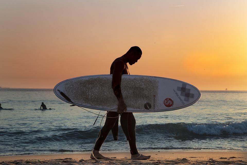 Surf, Beach, Sunset, Sea, Ocean, Summer, Waves, Marina