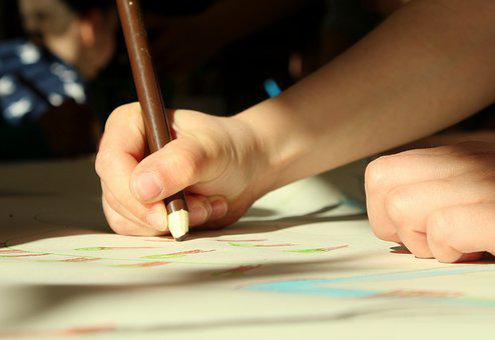 Figura, Para Dibujar, Manos, Niño