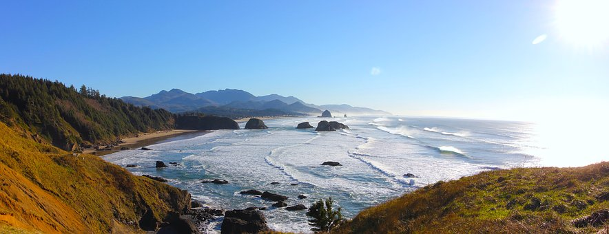 Cannon Beach, Pacific Ocean, Ecola