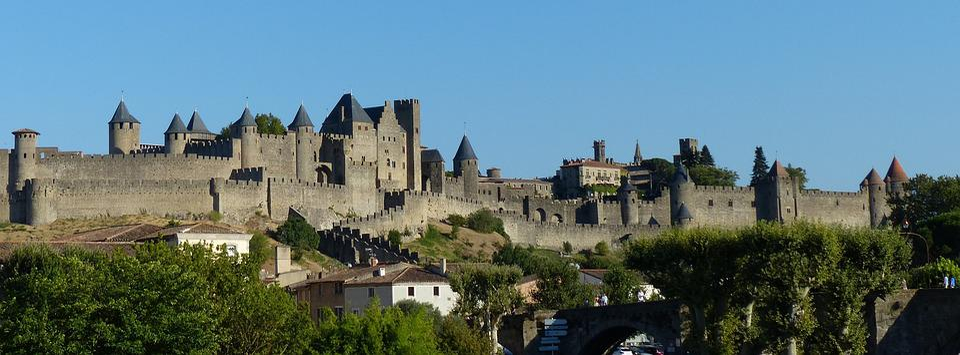 Castillo, Carcassonne, Medieval, Fortaleza, Francia