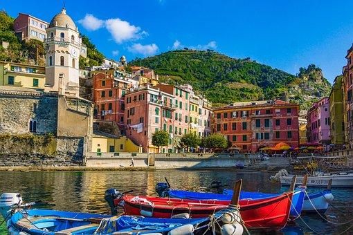 Italy, Sea, Houses, Cinque Terre