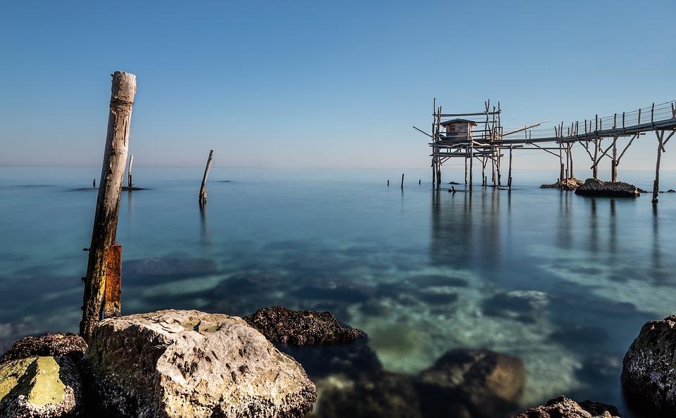 Tengeri, Túlcsordulás, Trabocchi, Abruzzo, Halászati