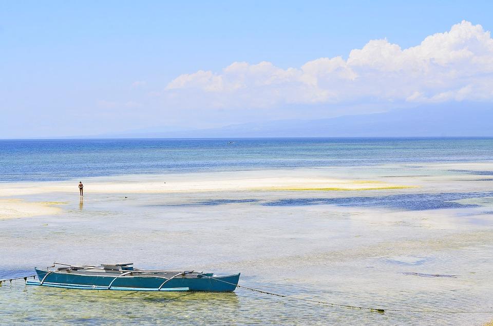 Siquijor, Philippines, Plage, L'Eau, Station, Sable