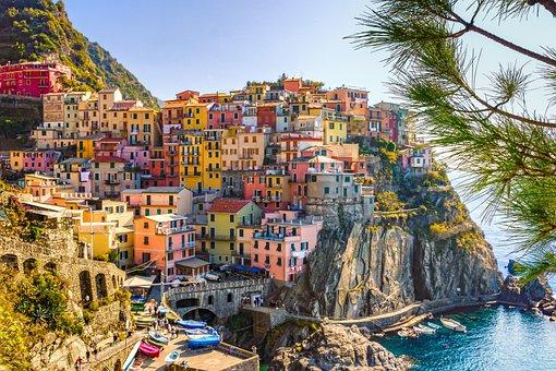 Italien, Meer, Häuser, Cinque Terre