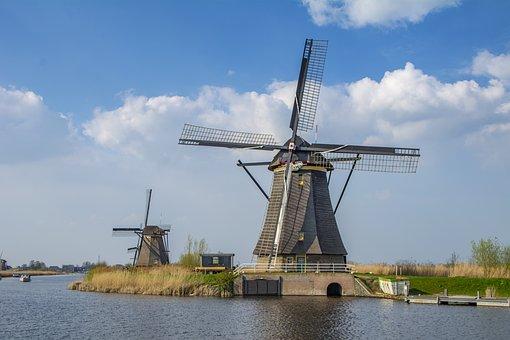 Holland, Molen, Windmolen, Reizen, Water