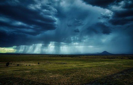 アリゾナ州, アメリカ, 雷雨, 嵐の雲, 天気予報, 雨, 暴風雨, 風景