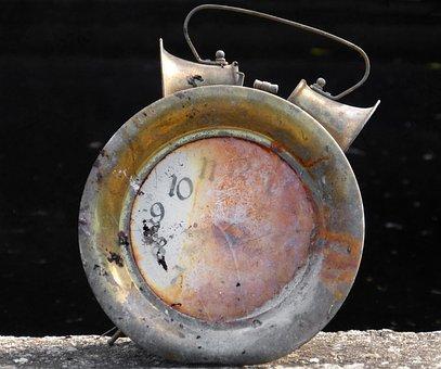 Clock, Alarm Clock, Broken, Symbol