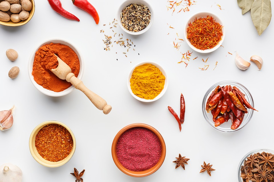 Masala, Ingredienti, Spezie, Curcuma, Peperoncino