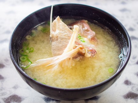 和食, スープ, 味噌汁, 魚, 料理, 日本食, お椀, 食べ物