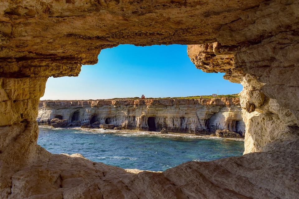 Sea Caves, Nature, Geological, Formation, Window, Cave