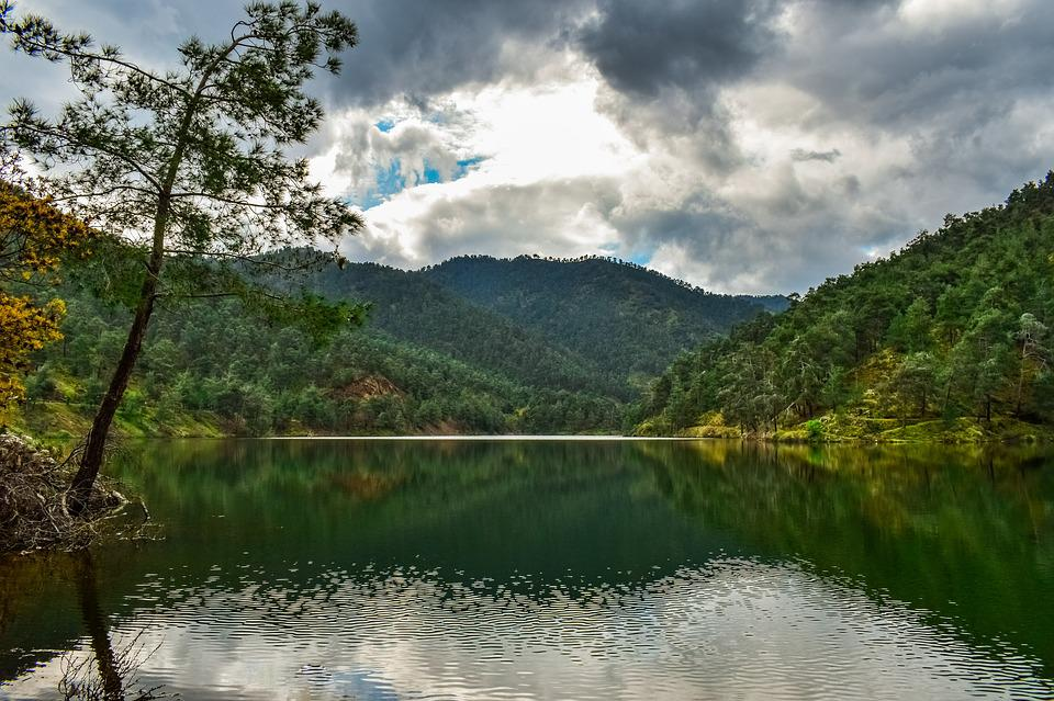 Lake, Mountains, Tree, Nature, Landscape, Water, Sky