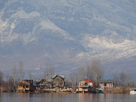 Srinagar, Mountain, Snow, Kashmir, India