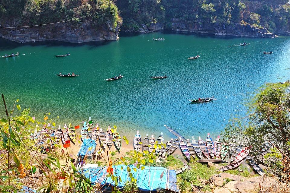 Nature, Dawki, Meghalaya, Umngot River, India, Boating