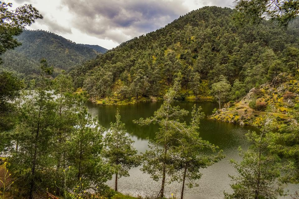 Lake, Mountains, Trees, Nature, Landscape, Water, Sky