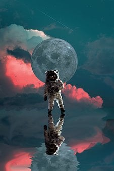 Astronaut, Moon, Space, Nasa, Planet