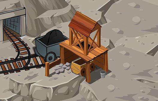 鉱山, 鉱物, リソース, 地下, 石炭, 業界, 汚染, 生産, 建設