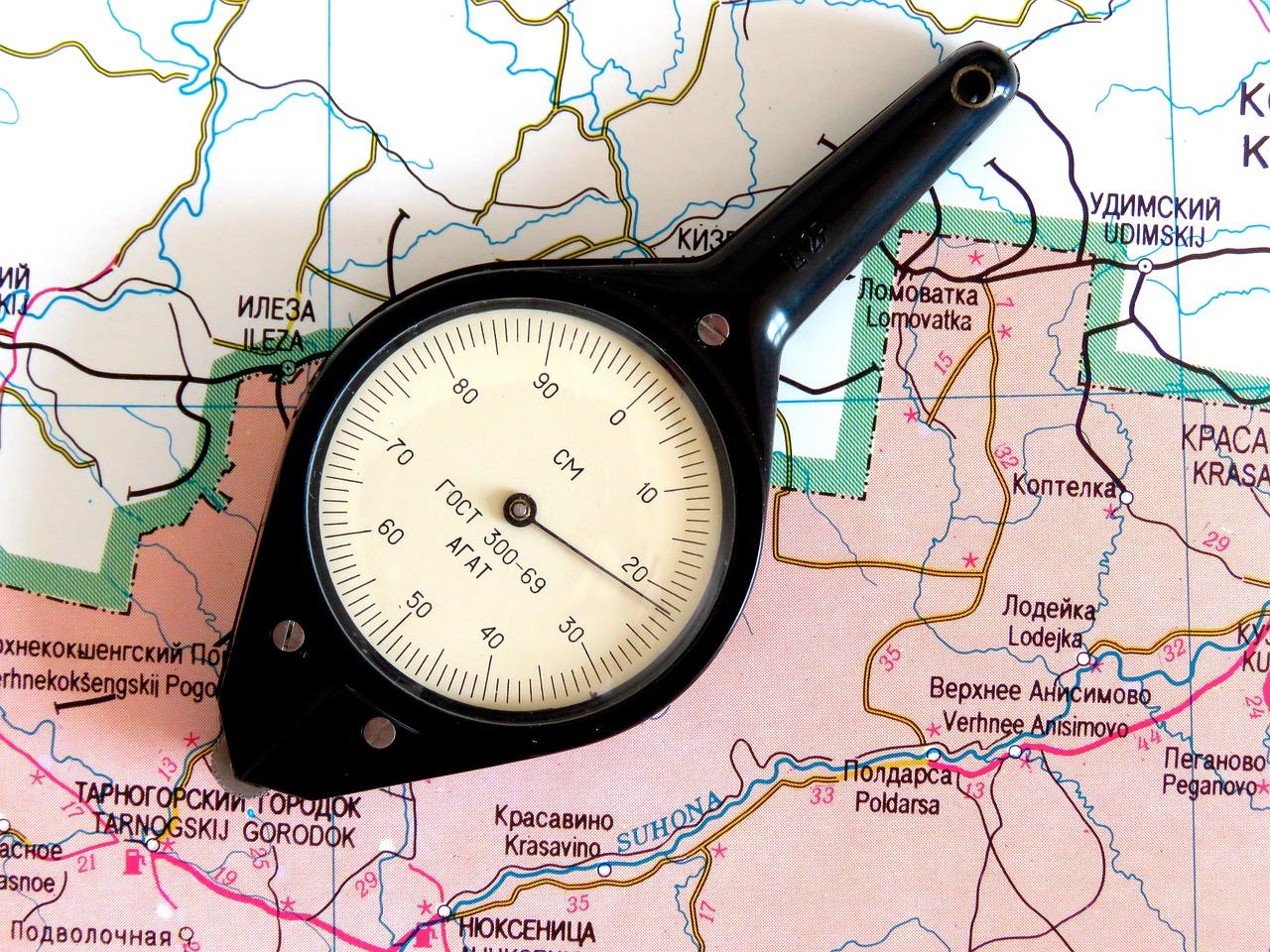 Kartta Matkamittari Etaisyys Ilmainen Valokuva Pixabayssa