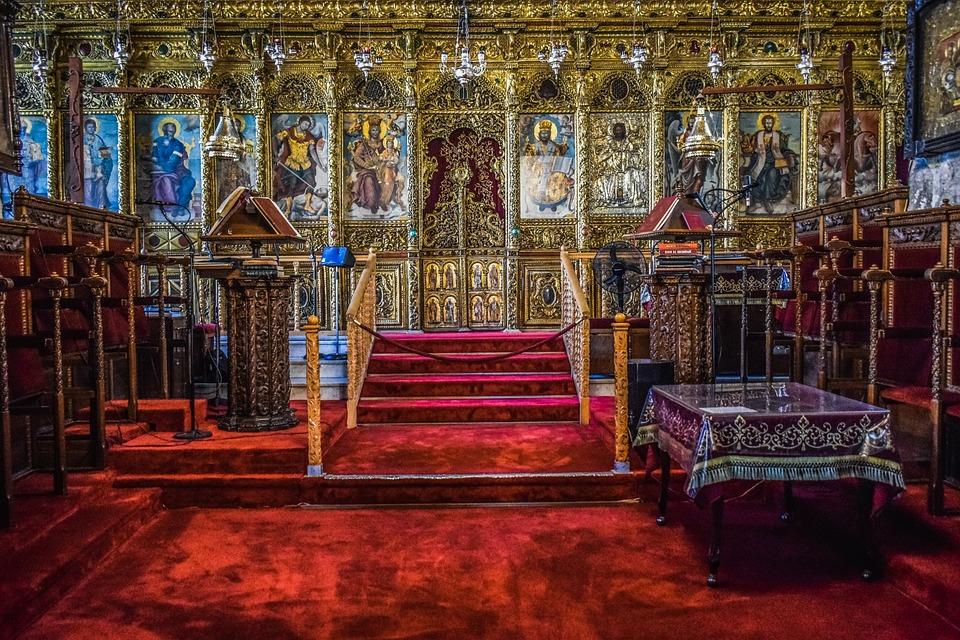 Cyprus, Larnaca, St, Lazarus, Church, Interior