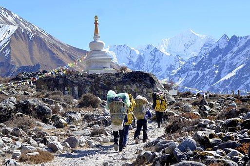 ネパール, スタートレック, ランタン, トレッキング, ヒマラヤ, 風景