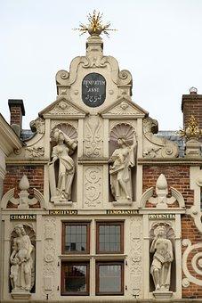 Gevel, Beeld, Standbeeld, Architectuur