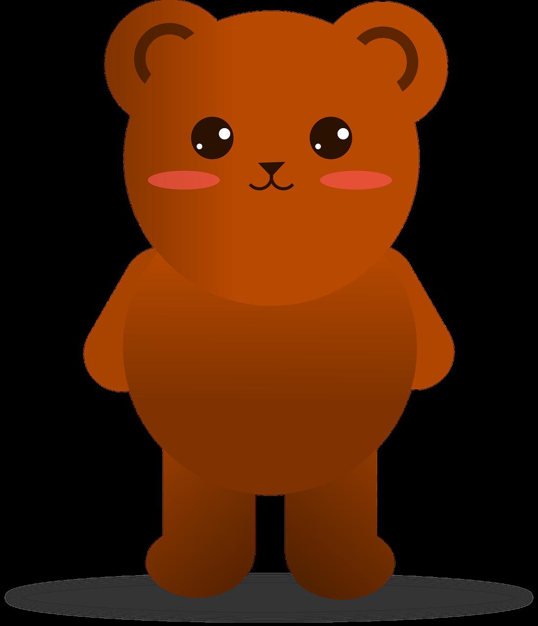 Beruang Hewan Kartun Gambar Vektor Gratis Di Pixabay