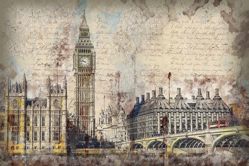 Londres, Westminster, Pont, Bâtiment, Antique, Vieux