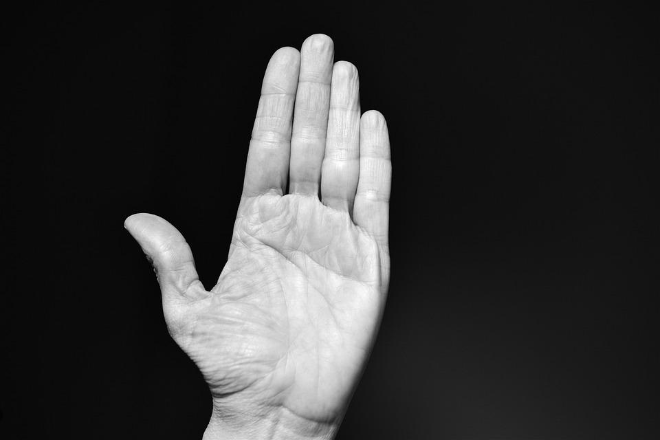 手, 耳光, 停止, 巴掌, 暴力, 残酷的, 手指