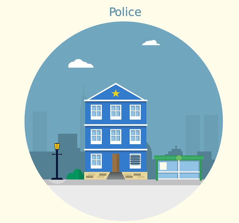 警察, 駅, 法の執行, 警察署, 家