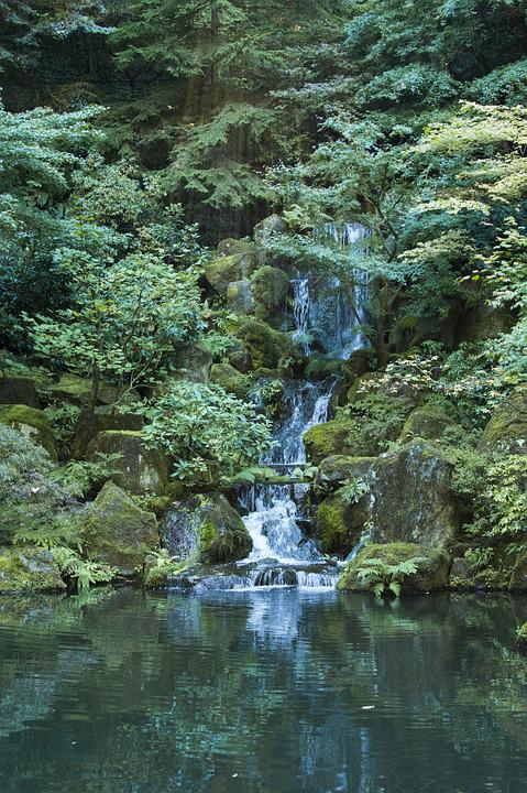 Waterfall Garden Pond Free Photo On Pixabay
