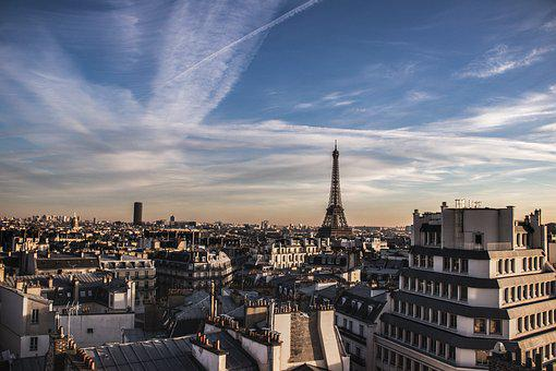 Paris, Eiffel Tower, Roof, Sky, France