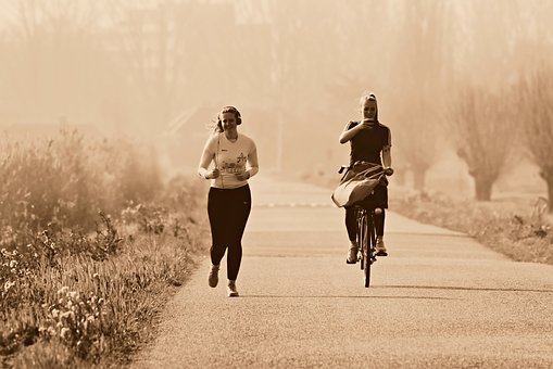 Girl, Woman, Person, Running, Cycling