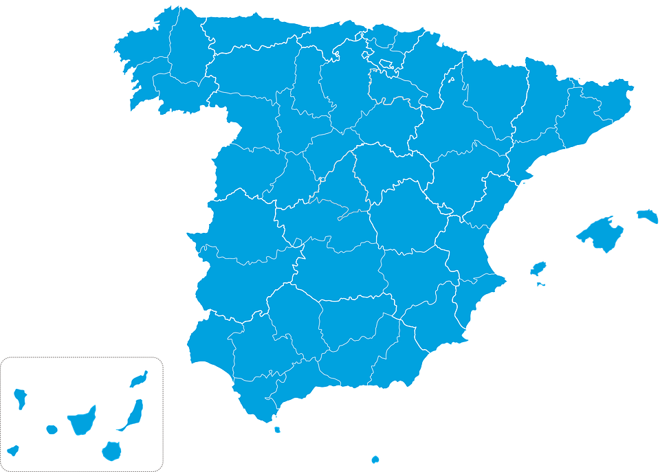 Spain Map Of Provinces.Map Spain Provinces Free Image On Pixabay