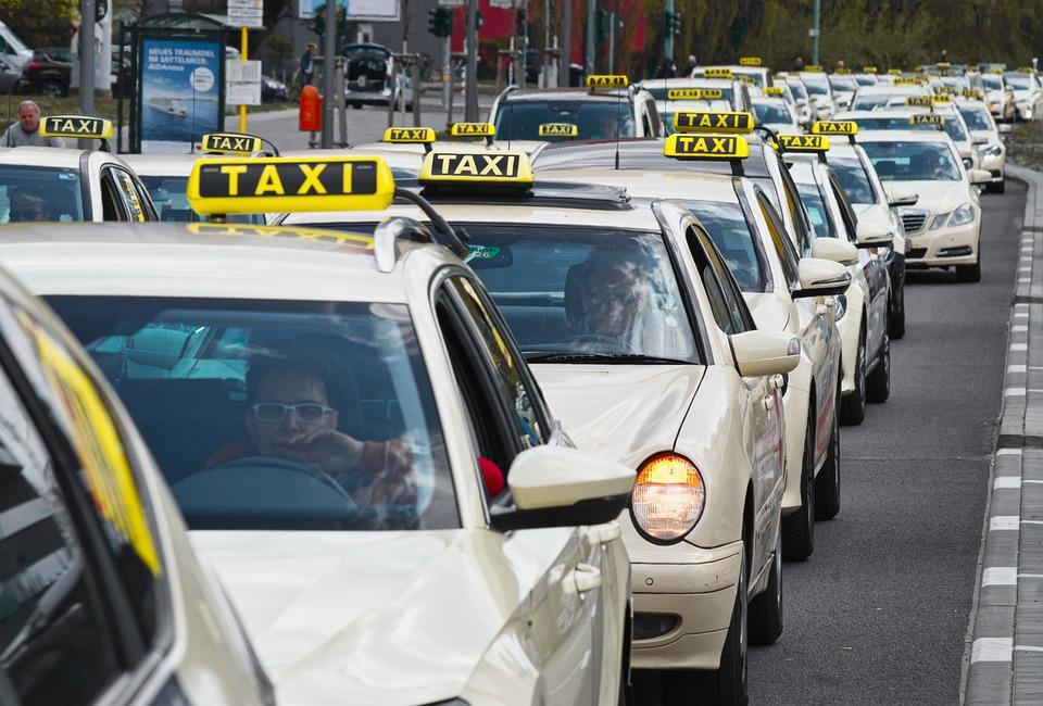 Taxi, Dżem, Strajk, Ruch, Pojazdów, Chaos