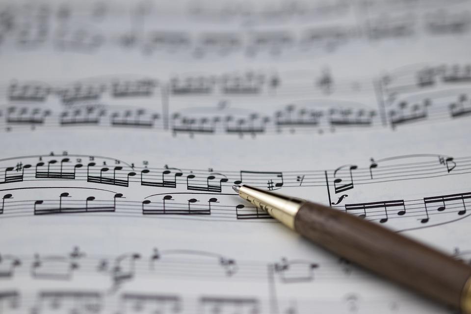 楽譜, 音楽, ト音, 構成, 音, ミュージシャン, 書, メロディー, ピアノ