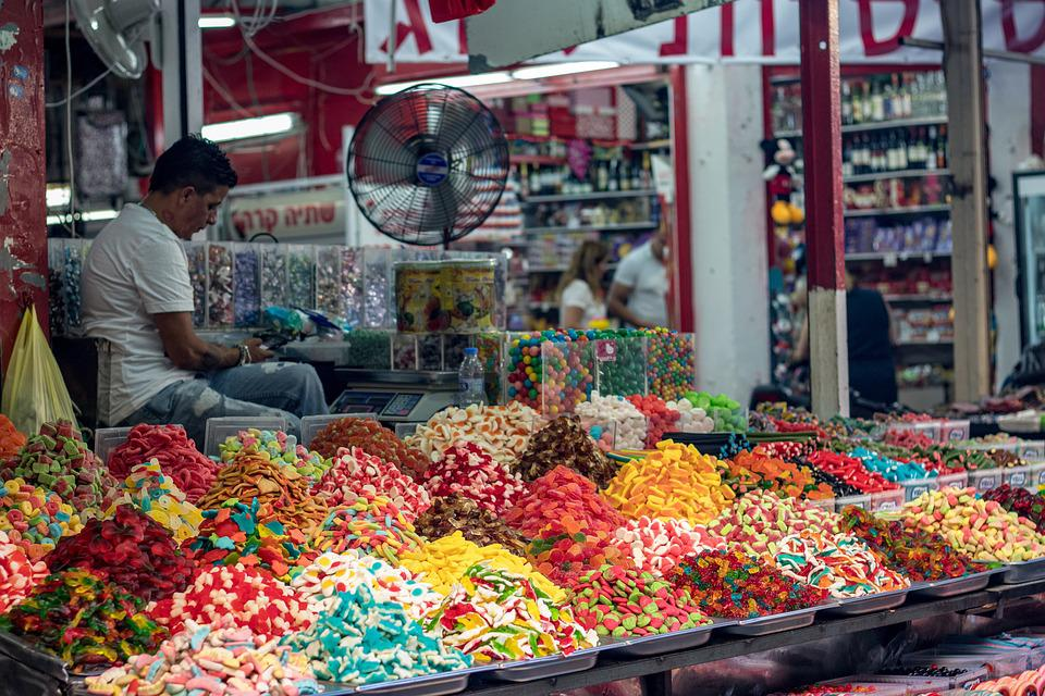 Mercado, Doces, Açucarados, Produtos De Confeitaria