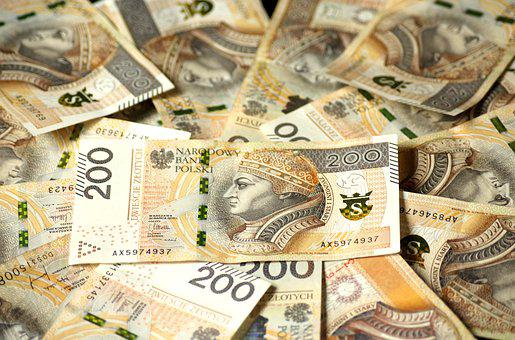 Euro Banknotes, The Currency In Poland