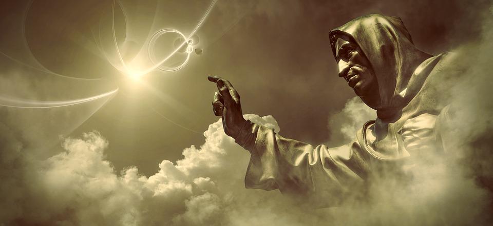 Fantasia, Luz, Criador, Deus, Nuvens, Fantástico