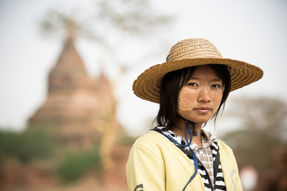 ミャンマー, 寺, 塔, ビルマ, 文化, 考古学的です, アジア, 仏教, 美しさ, 女性, 肖像画, 人
