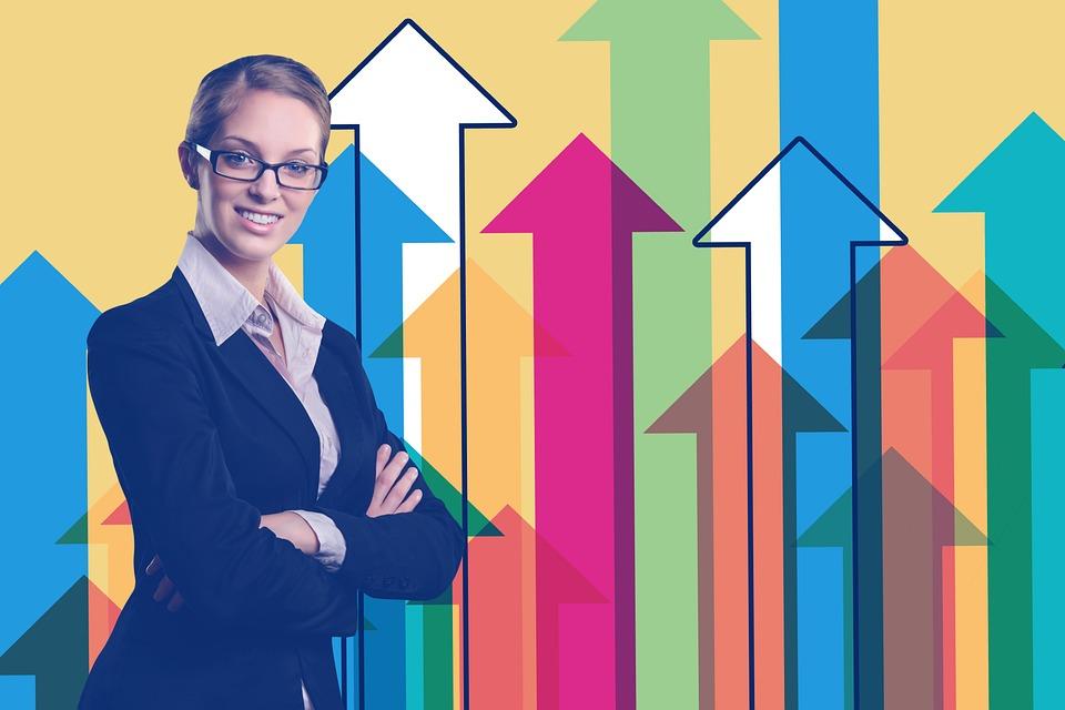 実業家, 統計情報, 矢印, トレンド, 経済, ビジネス, 金融, 方向, オフィス, グラフィック, バー