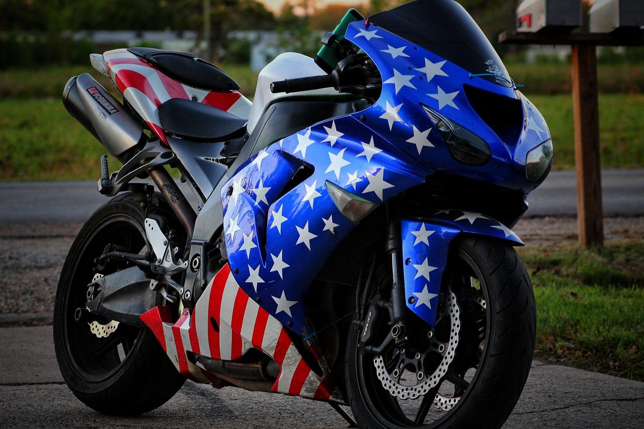 Motorcycle Patriotic Merica - Free photo on Pixabay