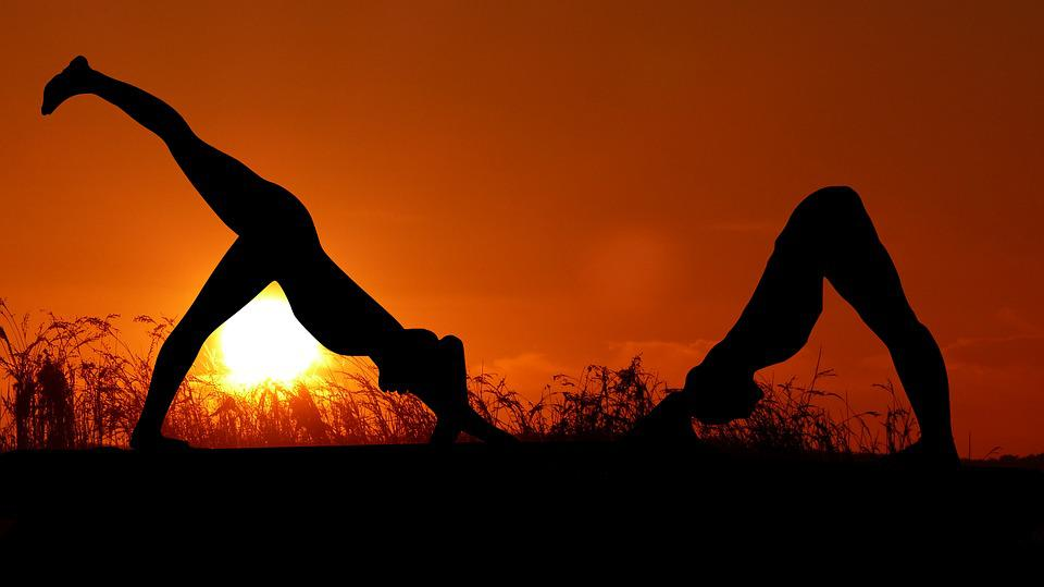 Sunset, Yoga, Zen, Meditation, Women, Nature