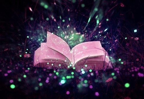 本, マジック, ストーリー, 魔法, おとぎ話, 料金, ファンタジー