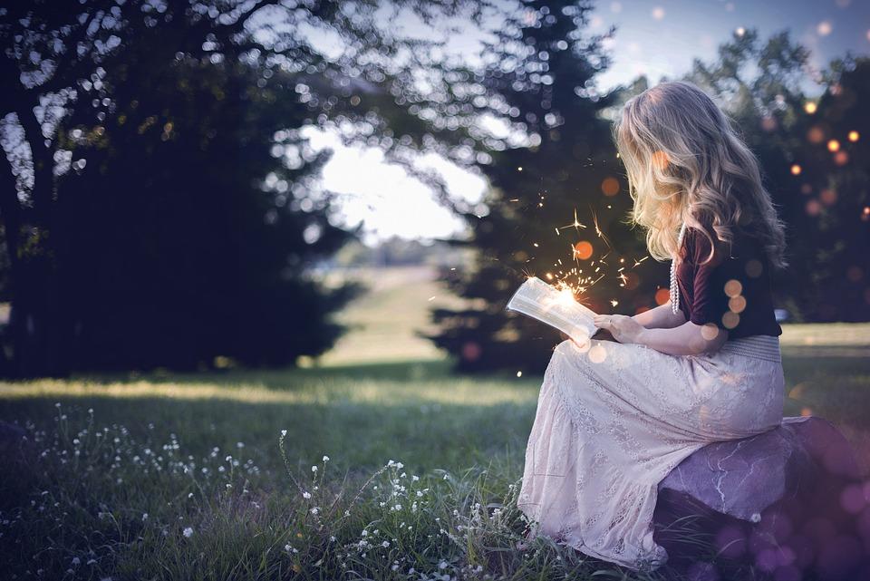 Libro, Ragazza, Magia, Fairy Tales, Sogno, Natura