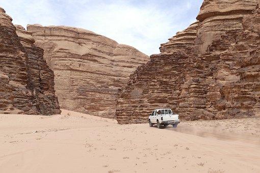 Jordan, Desert, Sand Stone, Sand