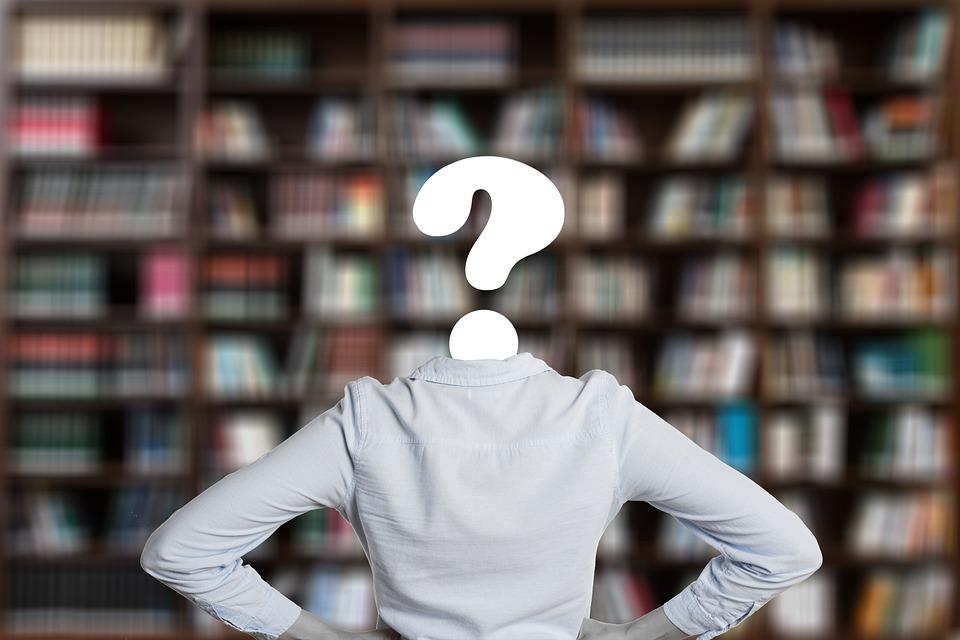 書籍, 疑問符, 学生, ライブラリ, 本, 学ぶ, 教育, 知っています, 情報, 研究, 大学, 文学