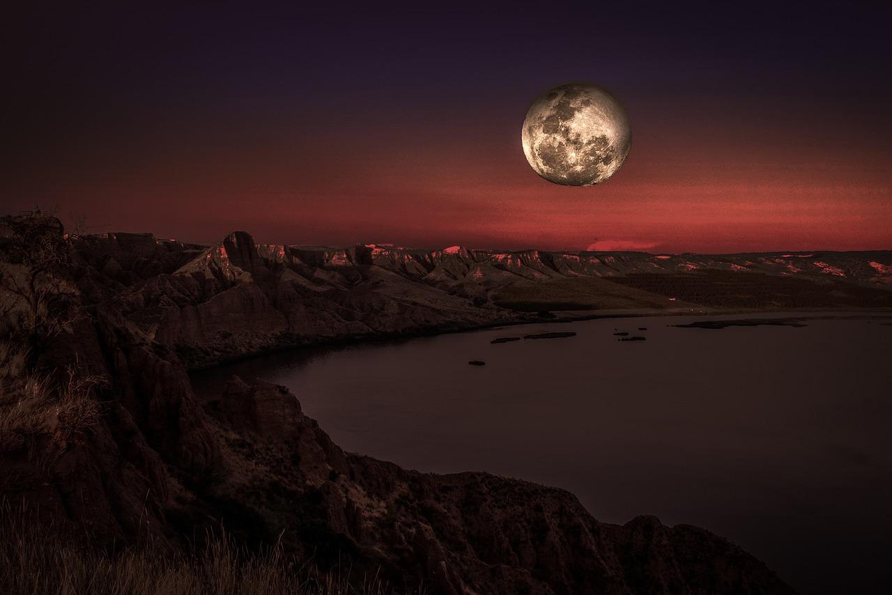 вас зимой как фотографировать пейзаж с луной вас