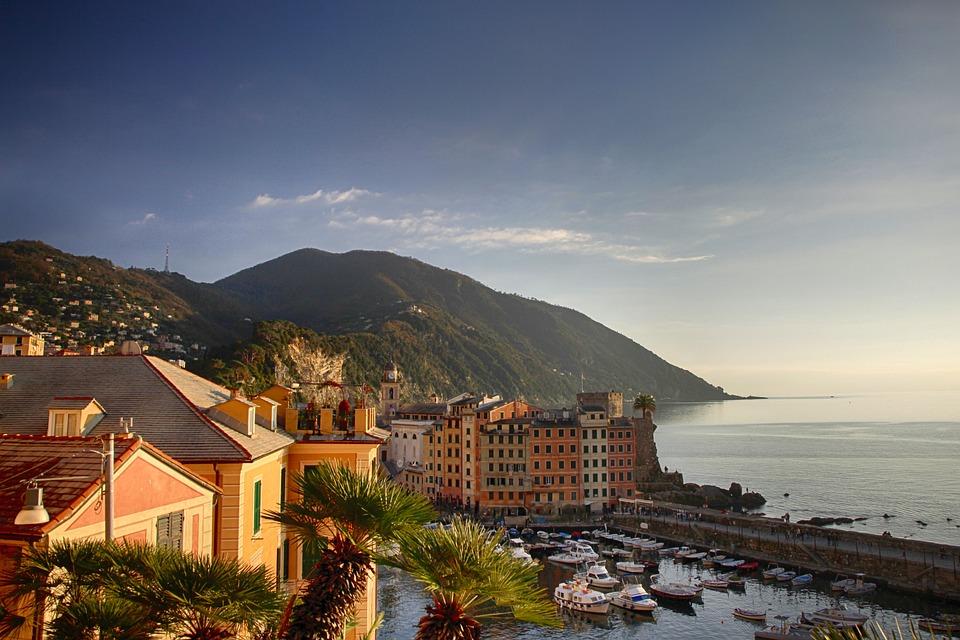 Genua, Morze, Turystyki, Włochy, Wody, Lato, Wakacje